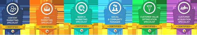 Digital Marketing Certificate Badges